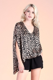 Tyche Tiger Caftan Top - Product Mini Image