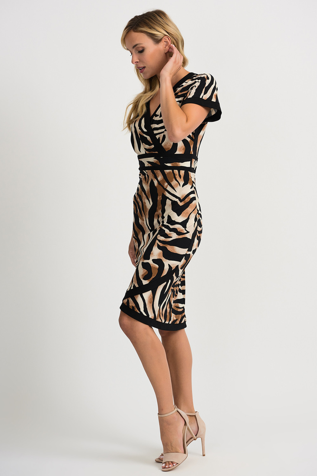 Joseph Ribkoff Tiger Dress - Side Cropped Image