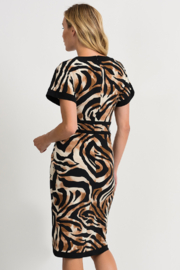 Joseph Ribkoff Tiger Dress - Front full body