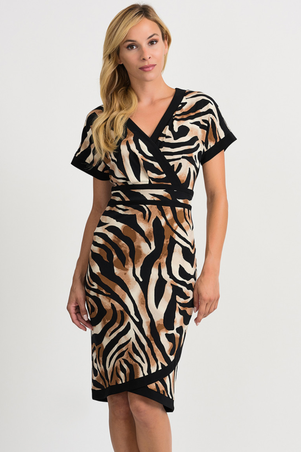 Joseph Ribkoff Tiger Dress - Front Cropped Image
