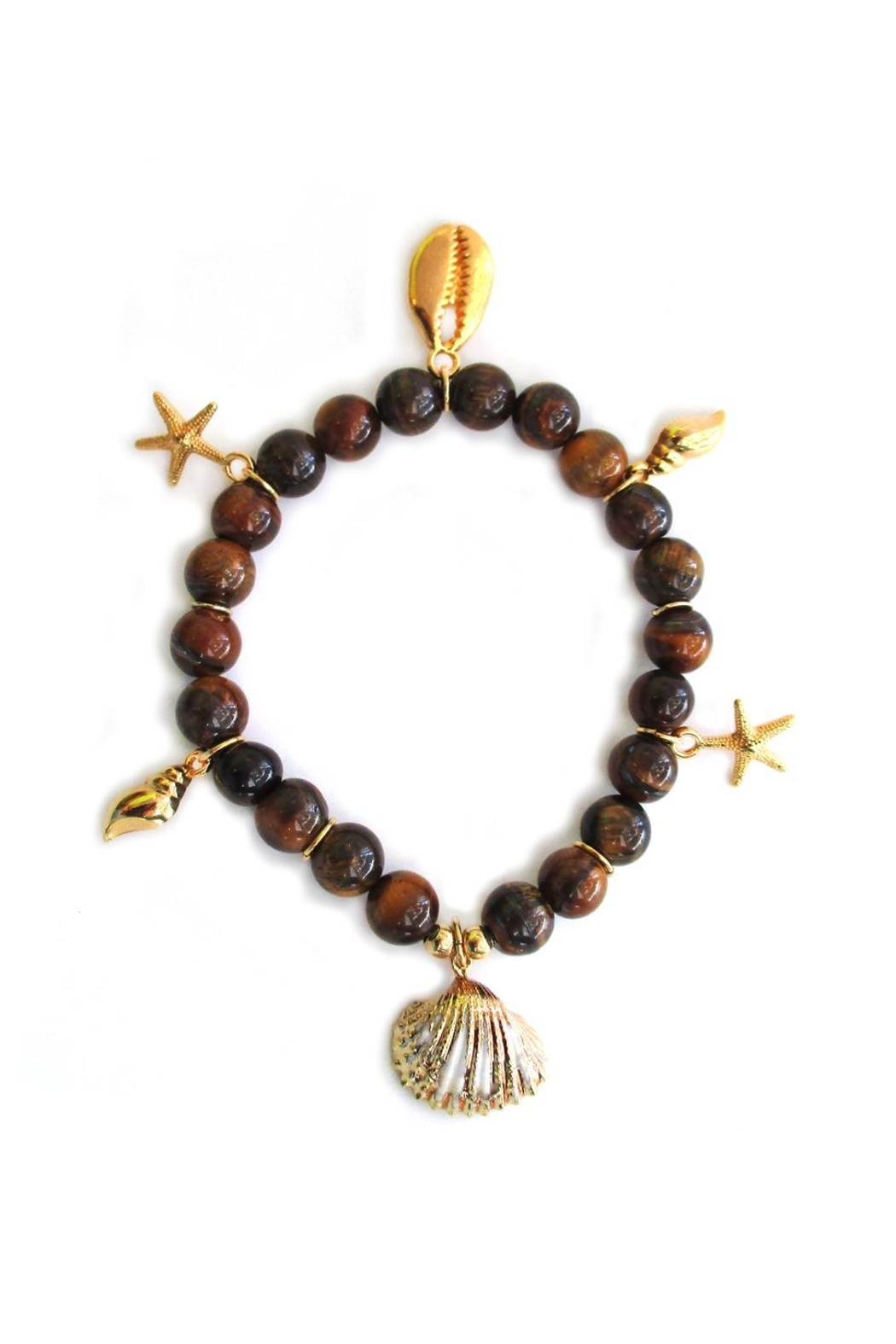 Malia Jewelry Tiger-Eye Charms Bracelet - Front Cropped Image