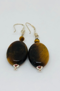 Laurent Léger Tiger Eye Earrings - Alternate List Image