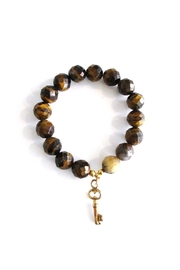 Malia Jewelry Tiger-Eye Key Bracelet - Front cropped