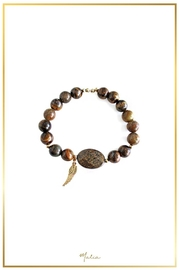 Malia Jewelry Tiger-Eye Wing Bracelet - Product Mini Image