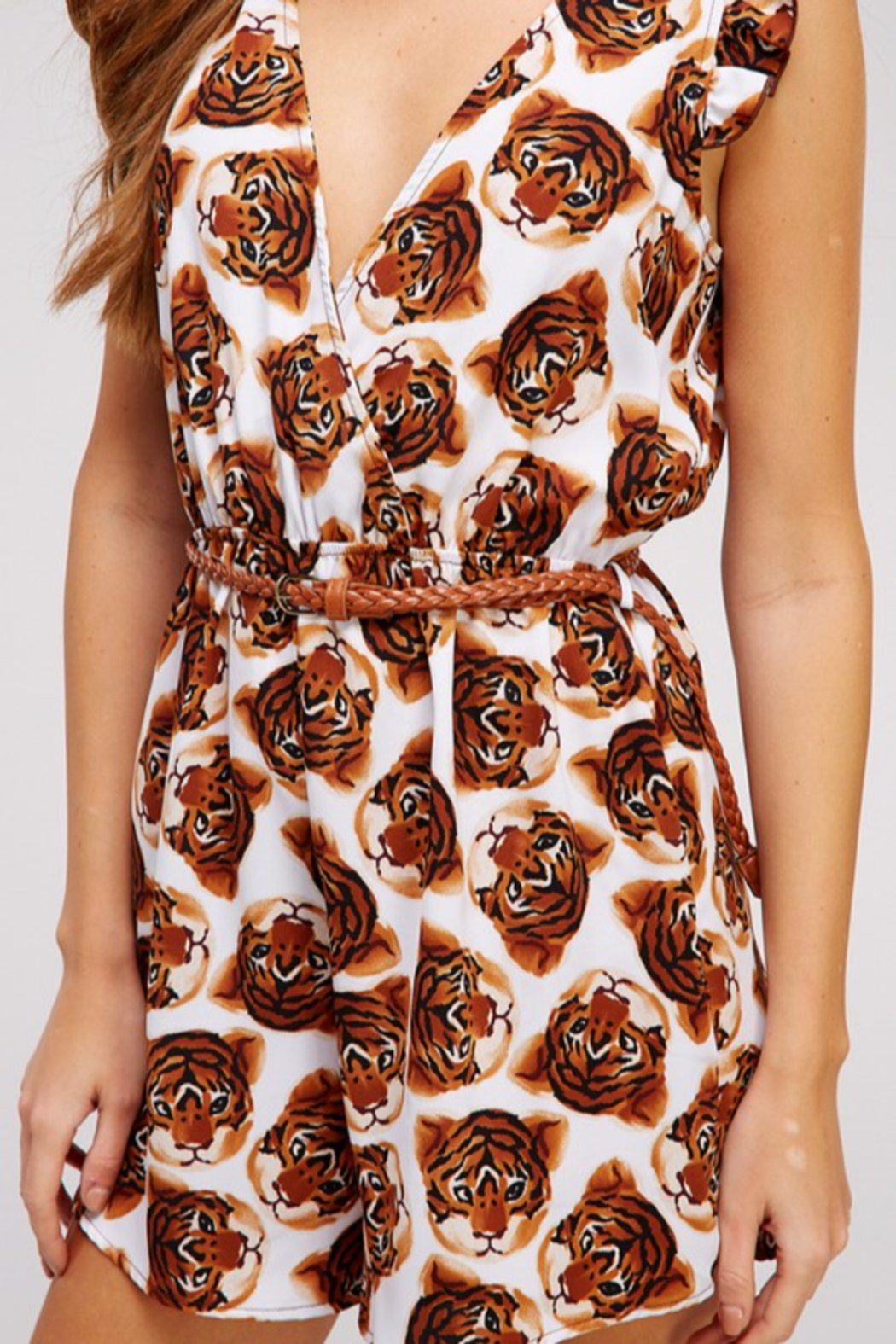 WESTMOON Tiger Face Romper - Back Cropped Image