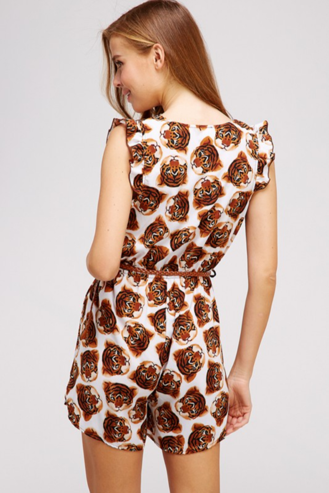WESTMOON Tiger Face Romper - Side Cropped Image
