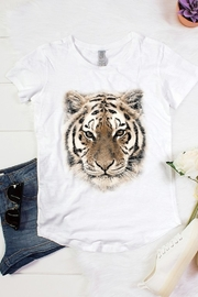 Color Bear Tiger Face Scallop Bottom Tee - Product Mini Image