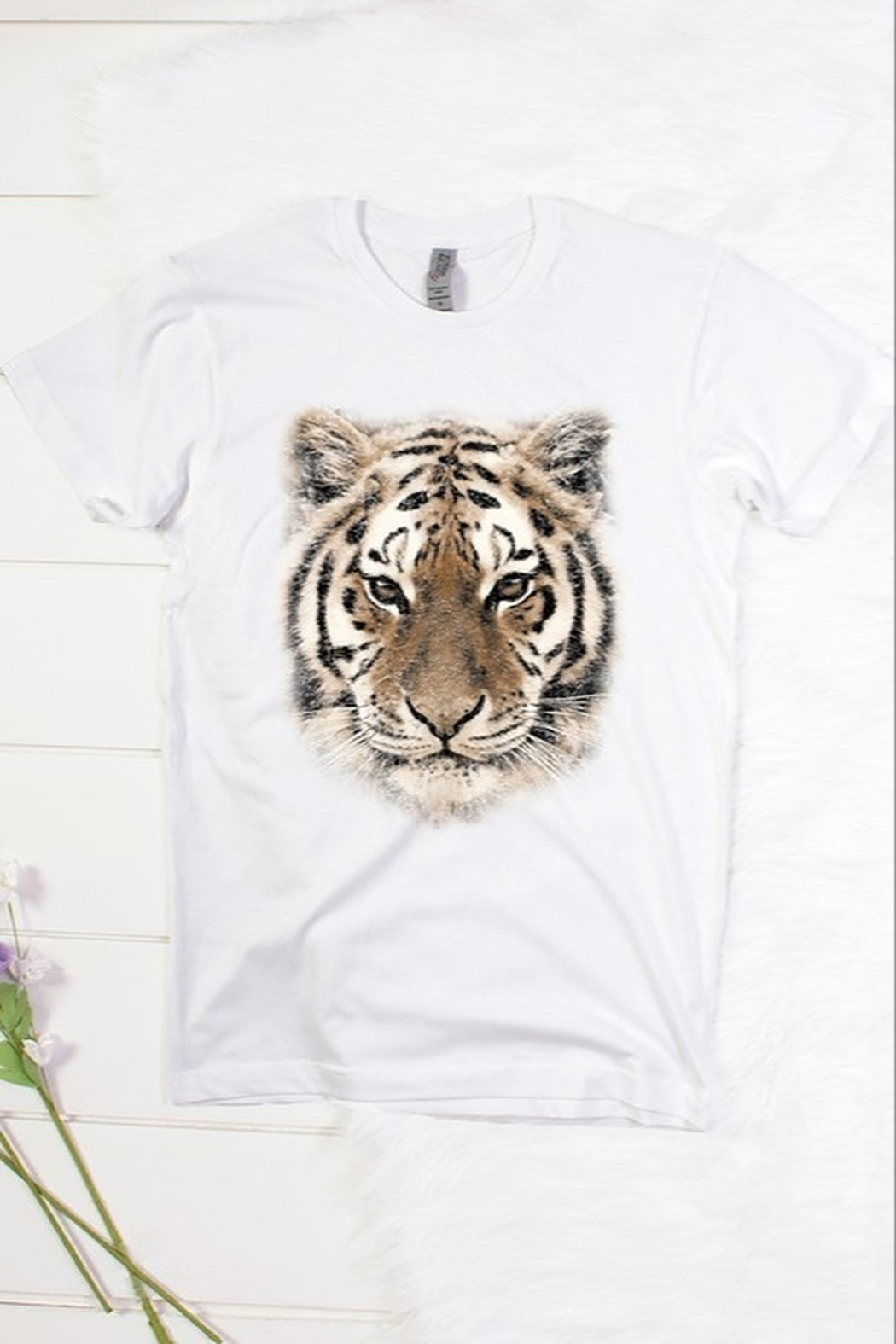 Color Bear Tiger Face Tee - Front Cropped Image