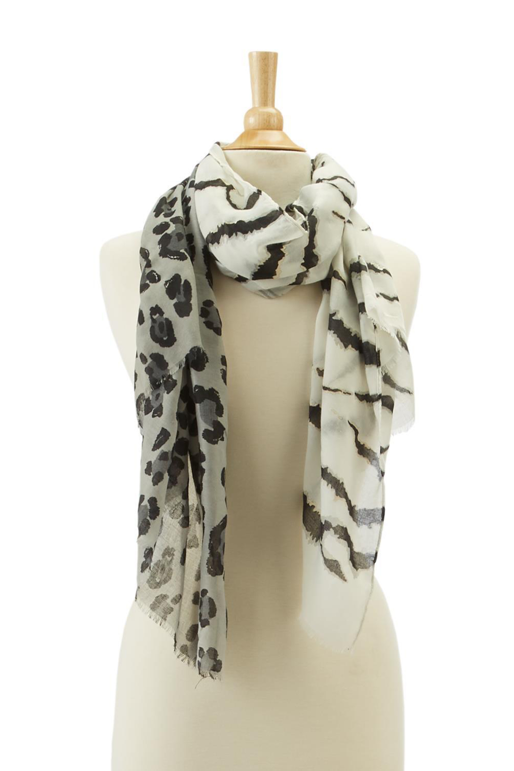 Two's Company Tiger & Leopard Print Scarf - Main Image