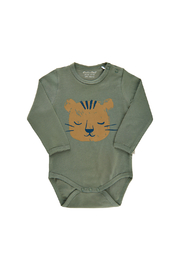 Minymo Tiger Onesie - Agave Green - Product Mini Image