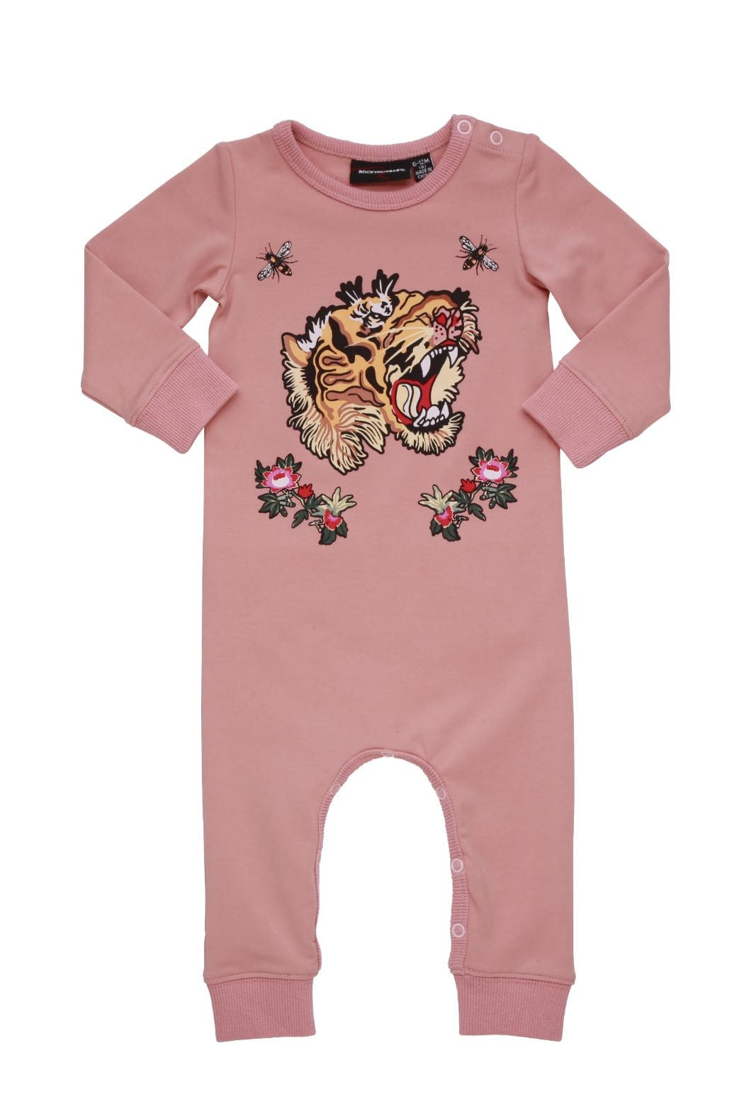 Rock Your Baby Tiger Playsuit - Front Full Image