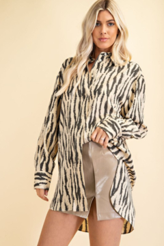 Glam Tiger Print Blouse - Product List Image