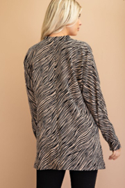 Glam Tiger Print Blouse - Back cropped