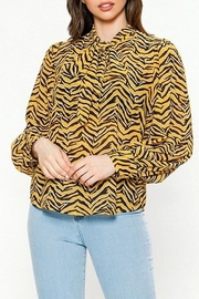 Jealous Tomato Tiger Print Blouse - Product Mini Image