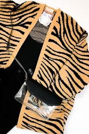 Honey Punch Tiger Print Cardigan - Front cropped