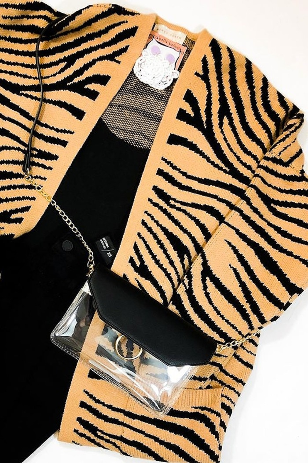 Honey Punch Tiger Print Cardigan - Main Image