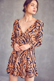 Idem Ditto  Tiger Print Dress - Front cropped