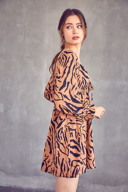 Idem Ditto  Tiger Print Dress - Side cropped