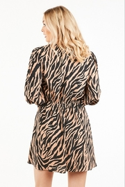 Very J Tiger Print Dress - Side cropped
