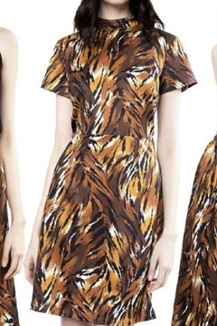 Julie Brown NYC Tiger print jersey dress - Product List Image