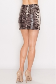Cloud Ten Tiger Print Leather Skirt - Front full body