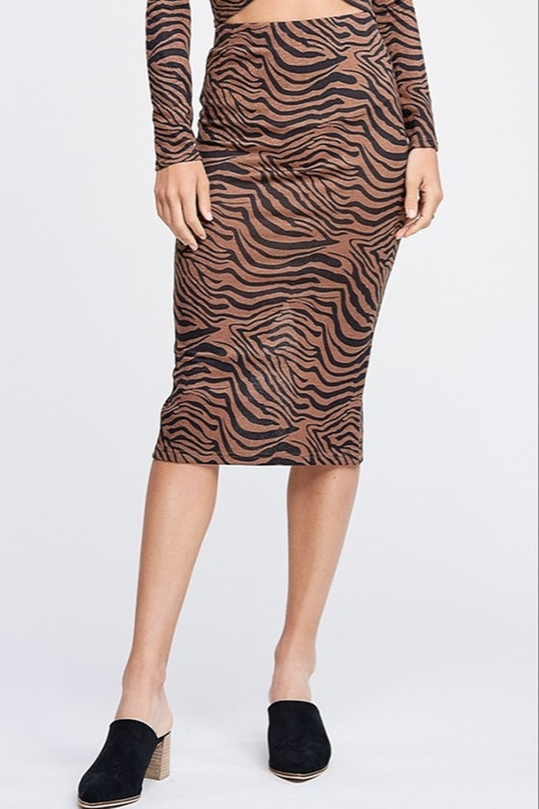 Emory Park Tiger Print Midi Skirt - Front Cropped Image