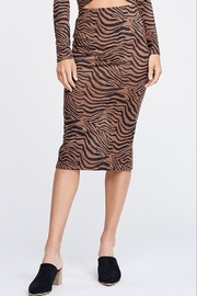Emory Park Tiger Print Midi Skirt - Product Mini Image