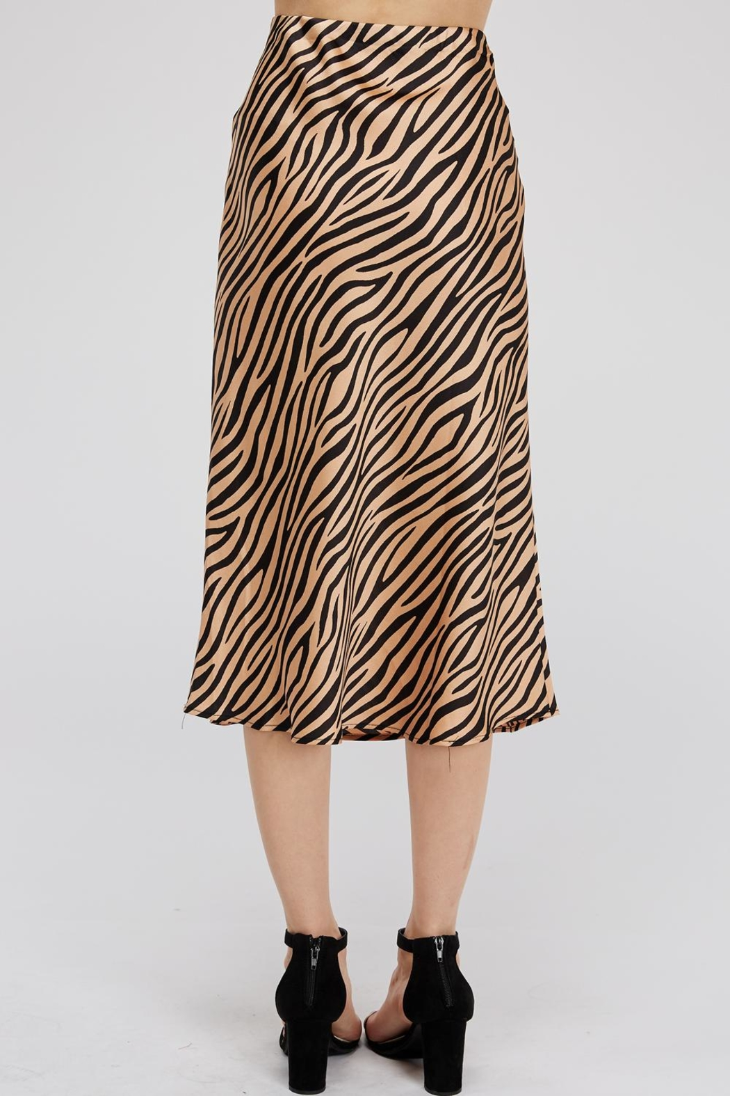 Renamed Clothing Tiger-Print Midi Skirt - Back Cropped Image