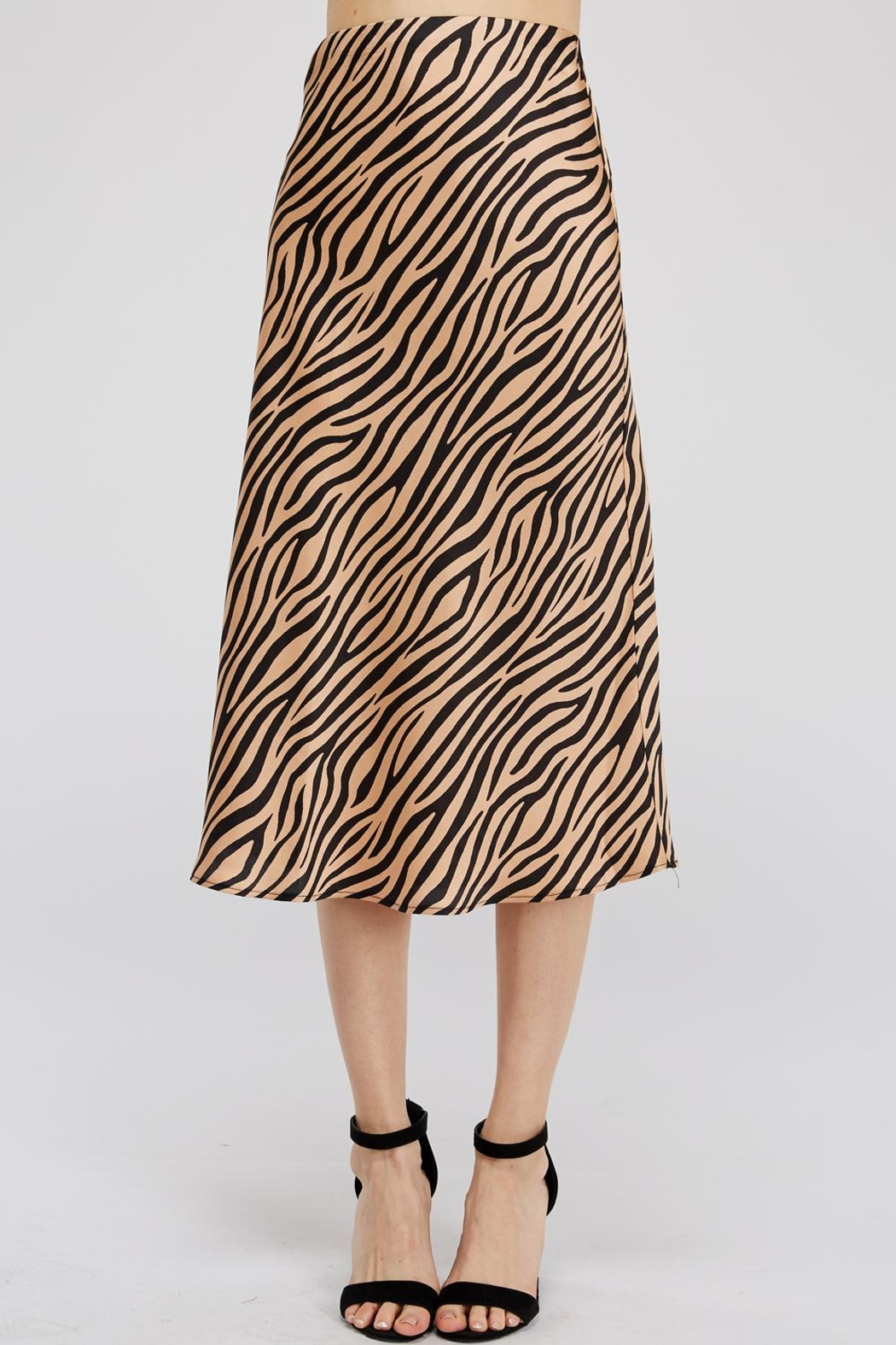 Renamed Clothing Tiger-Print Midi Skirt - Front Cropped Image