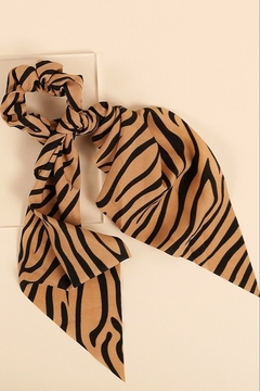 avenue zoe  Tiger Print Scrunchie Scarf - Product List Image