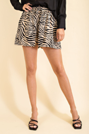 Glam Tiger Print Short - Front cropped