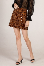 Moodie Tiger Print Skirt - Front cropped