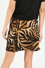 Wild Honey Tiger Print Skirt - Side cropped