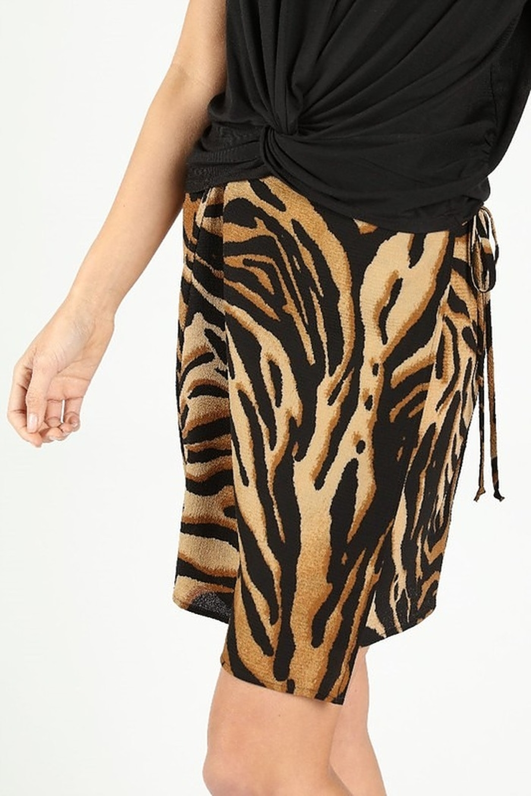Wild Honey Tiger Print Skirt - Front Full Image