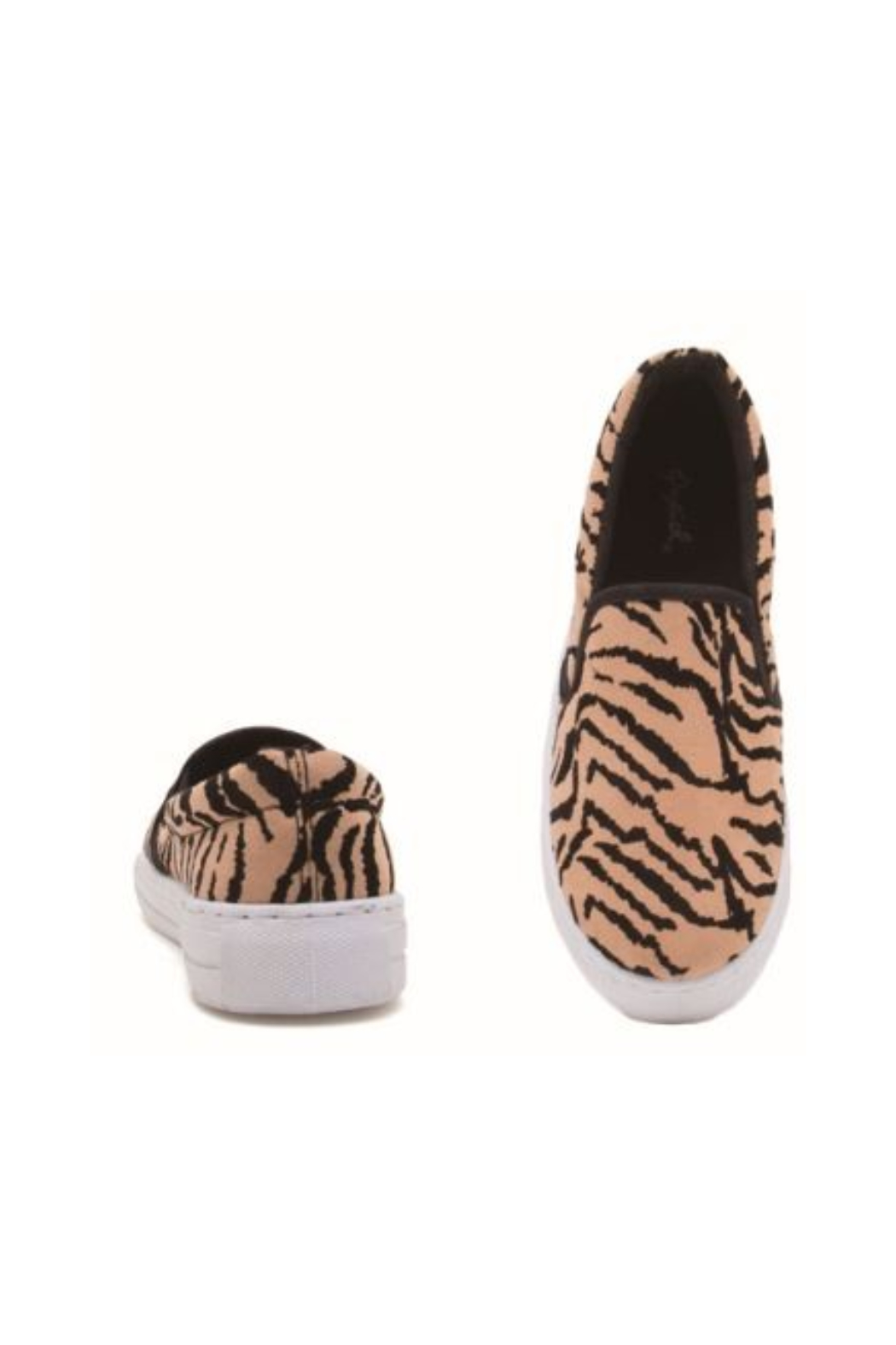 Qupid Tiger Print Sneaker - Front Cropped Image
