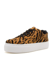 Qupid Tiger Print Sneaker - Front cropped