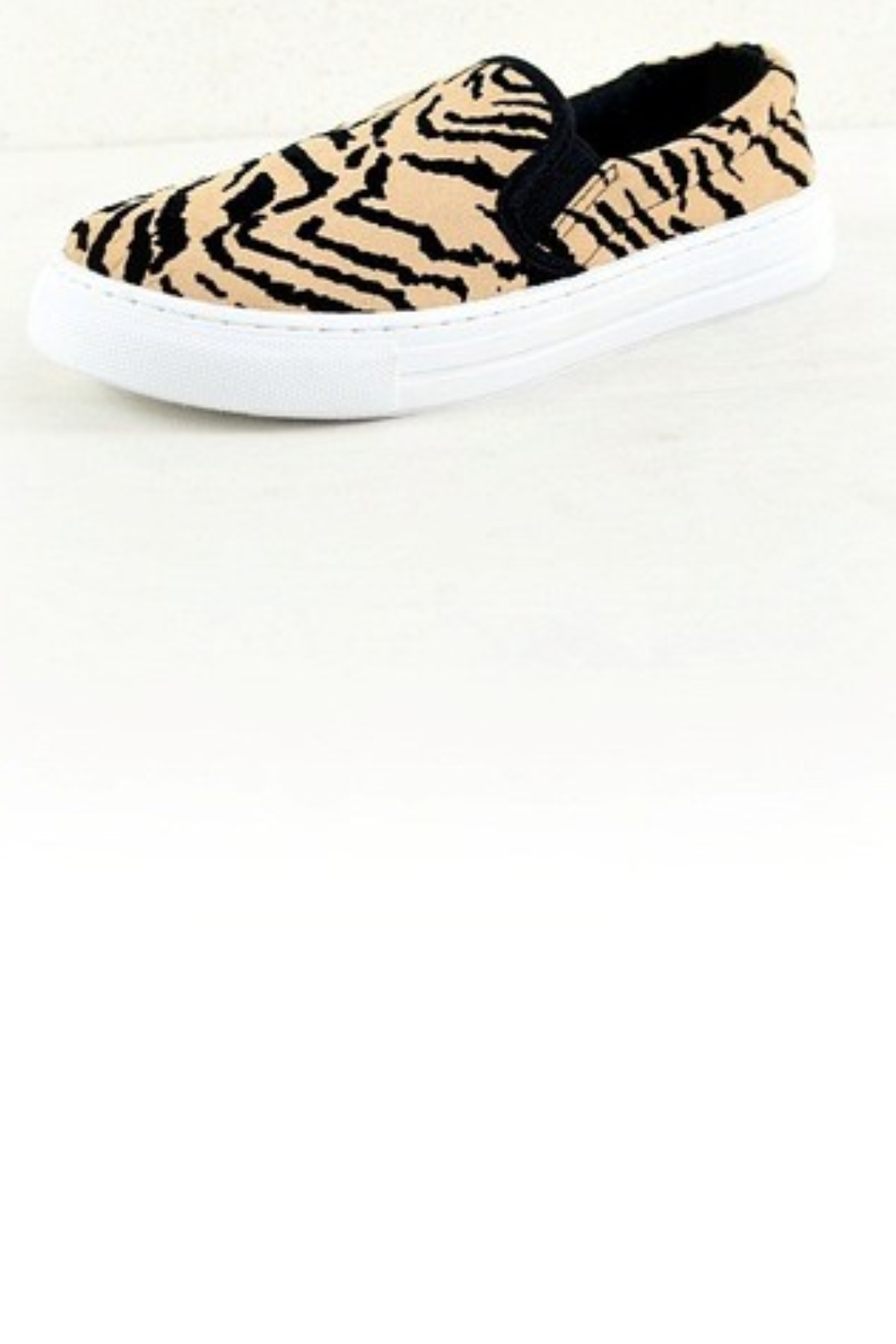 Qupid Tiger Print Sneaker - Front Full Image