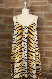 Adrienne Tiger Print Swing Dress - Product Mini Image