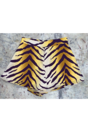 Adrienne Tiger Print Swing Short - Product Mini Image