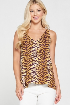 Adrienne Tiger Print Tank - Product List Image