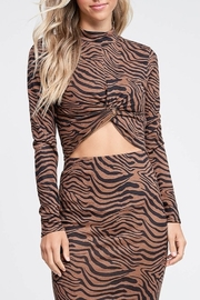 Emory Park Tiger Print Top - Product Mini Image