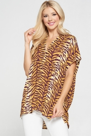 Adrienne Tiger Print Top - Product Mini Image