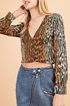 Le Lis Tiger Print Top - Product List Image