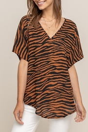 Lush  Tiger Print Top - Front cropped