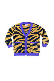 Sparkle City Tiger Stripe Cardigan - Front cropped