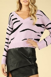 Wild Honey Tiger Stripe Sweater - Product Mini Image