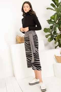 Thml TIGER STRIPES KNIT SKIRT - Product List Image