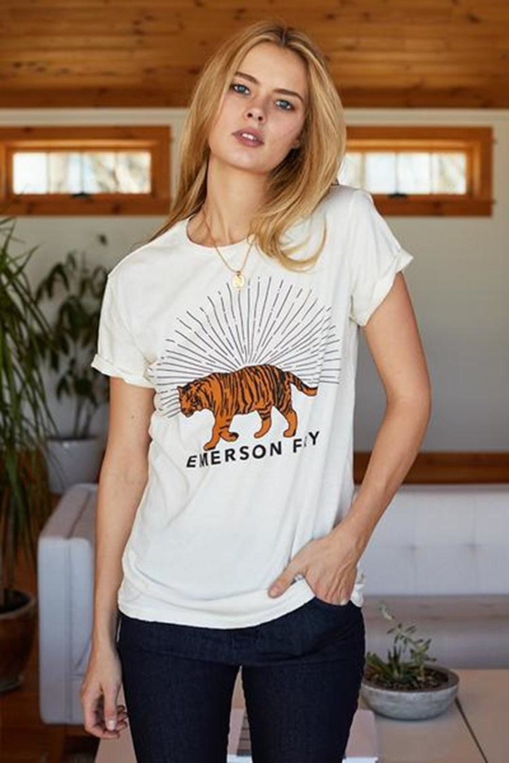 Emerson Fry Tiger T-Shirt - Front Cropped Image