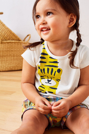 Tea Collection Tiger Turn Baby Graphic Tee - Side cropped
