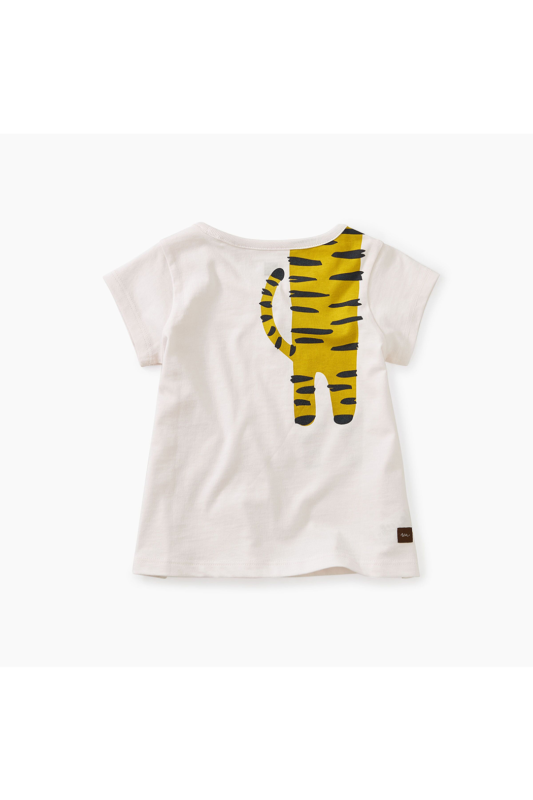 Tea Collection Tiger Turn Baby Graphic Tee - Front Full Image